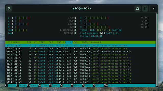 Tracker high CPU usage Linux