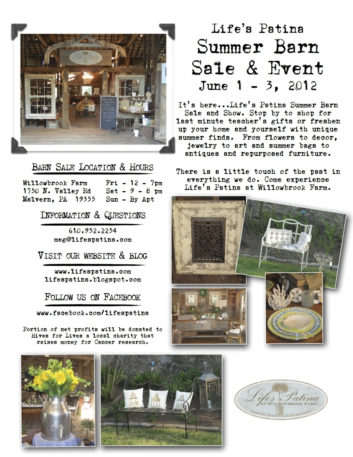 Life's Patina at Willowbrook Farm: Next Barn Sale - June ...