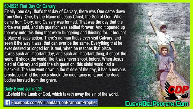 The True of that Day On Calvary - William Branham