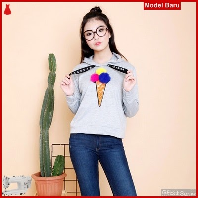 GFSH1909190 Setelan Ice Sweater Terbaru Cream Keren BMG