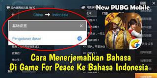 Cara Menerjemahkan Bahasa Di Game For Peace Ke Bahasa Indonesia