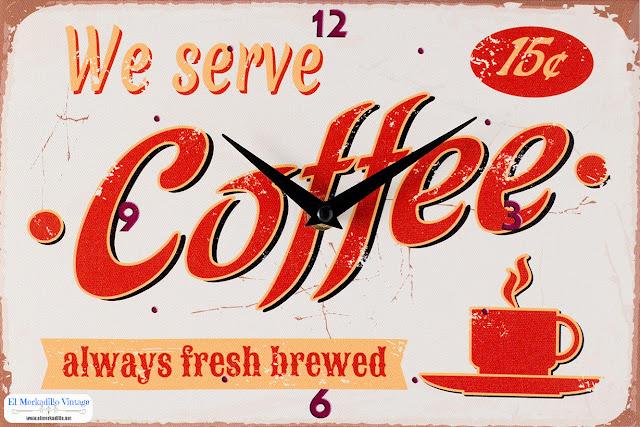 Reloj de Pared (Mod. Coffee) - New Vintage - Hogar y Decoración