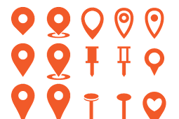 Koleksi Logo Simbol Lokasi Map Vektor AI