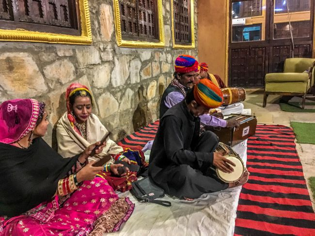 Local artists performing at Traditional Khana