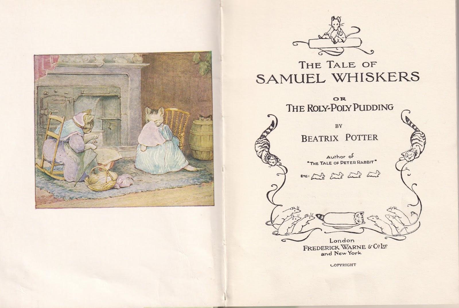 Beatrix Potter Tiggy Winkle Samuel Whiskers dollhouse miniature books