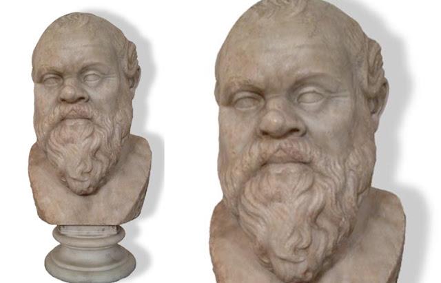 Busto de Sócrates. Mármore. Inv. No. 6129