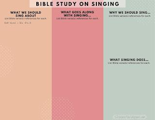 A free printable Bible study on Singing | scriptureand.blogspot.com