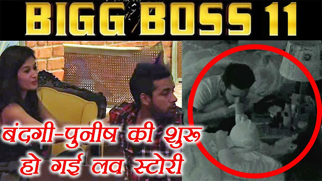 Bigg Boss 11 : Puneesh and Bandagi Kissing Caught on Cam
