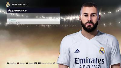 PES 2021 Faces Karim Benzema by So PES