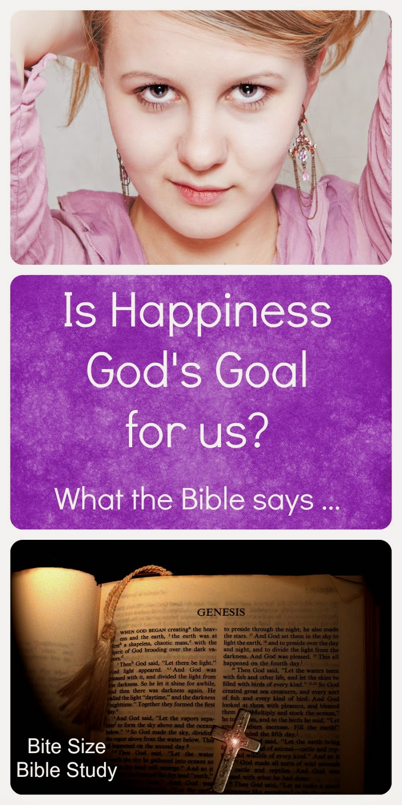 Happiness or Holiness? God's goals for us, God wants us to be Holy, not Happy