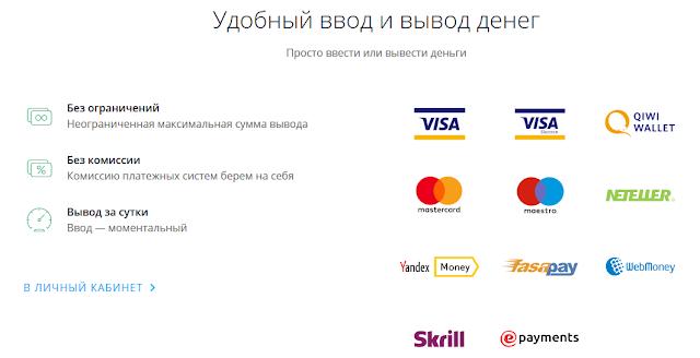 Платежные системы ОлимпТрейд