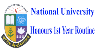 Honours 1st Year Routine 2019