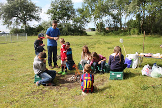 We spent some time doing outdoor cooking. We made and ate a lot of food - jacket potatoes, toasties, toasted marshmallows, smores and....