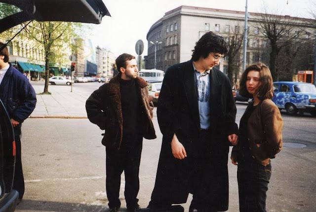 1995 год. Рига. Владимир Крамник с чемпионкой по шахматам среди девушек Чехии