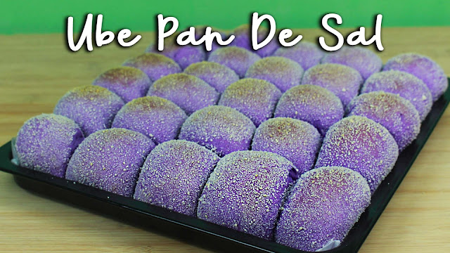 Filipino version of Bread Rolls with purple yam flavor.