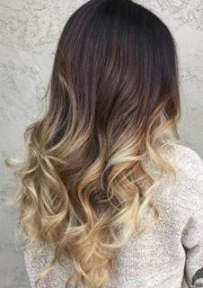 Warna Rambut Untuk Kulit Sawo Matang ombre