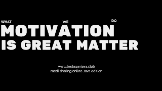 Motivation effects can affect to all aspects of life