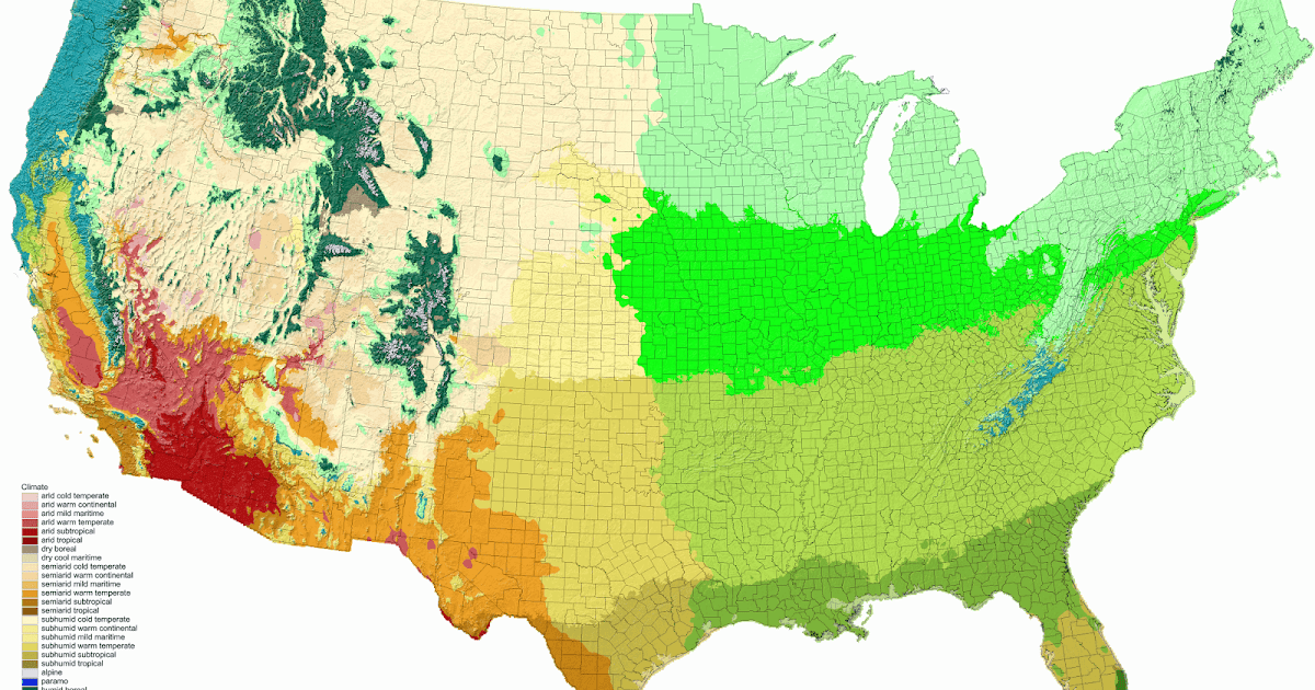 Detailed Climate Map Of The United States Vivid Maps - Us map climate