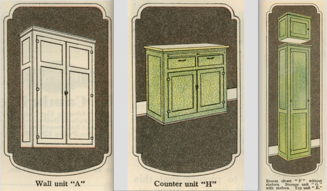 vintage Sears kitchen cabinets in 1930