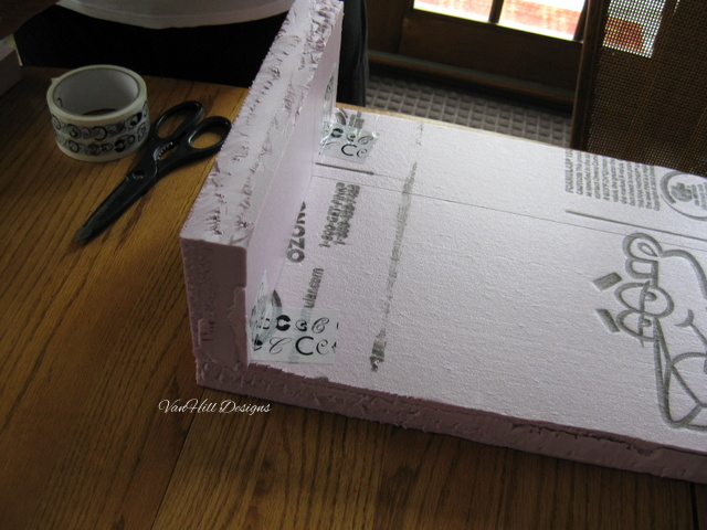 Cornice Boards Out Of Foam Core Insulation Boards