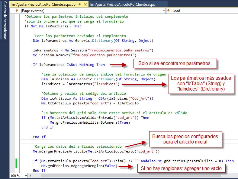 Código Complemento: Configuración 4 - Archivo VB - Programación de Complementos para eFactory ERP/CRM, Contabilidad y Nómina