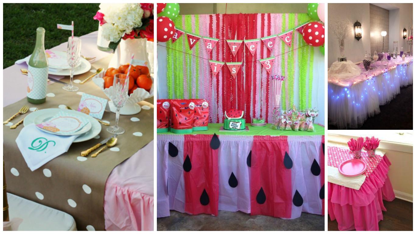 9 ideas de c mo decorar manteles para fiestas de - Como hacer adornos para fiestas ...