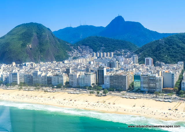 view from helicopter in Rio Brazil