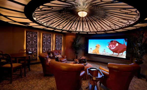 modern unique theme home theater designs | Winnetka A/V: Themed Home Theaters