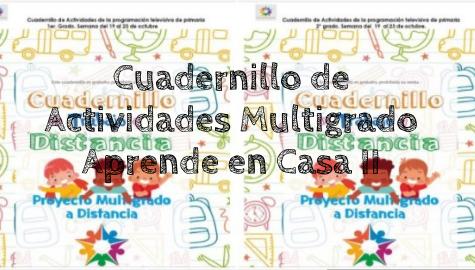 Cuadernillo de Actividades Multigrado Semana 9