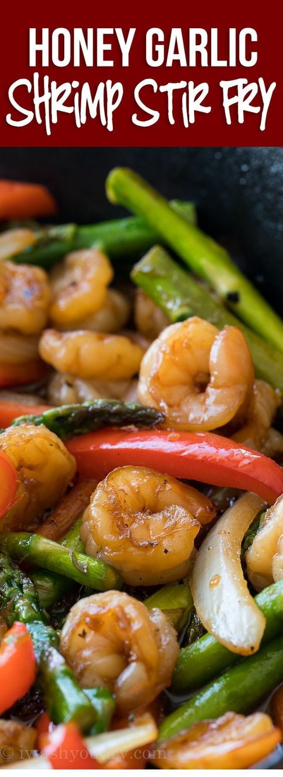 Honey Garlic Shrimp Stir Fry