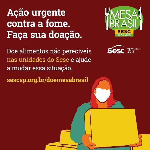 SESC realiza campanha Ação Urgente Contra a Fome