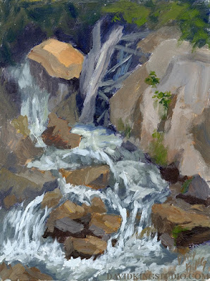 art painting plein air nature stream running water