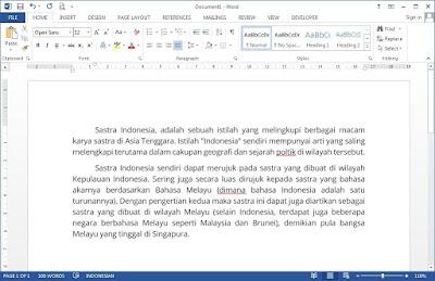 Menggunakan Proofing Tools Bahasa Indonesia di Microsoft Word