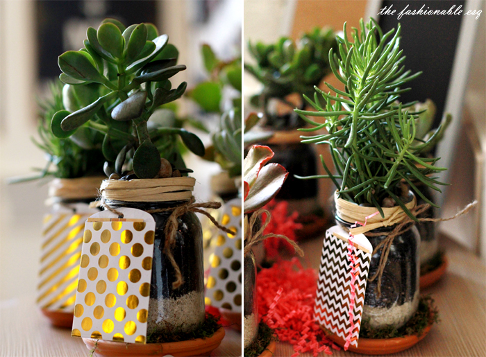 Decorating mason jars as gifts and party favors