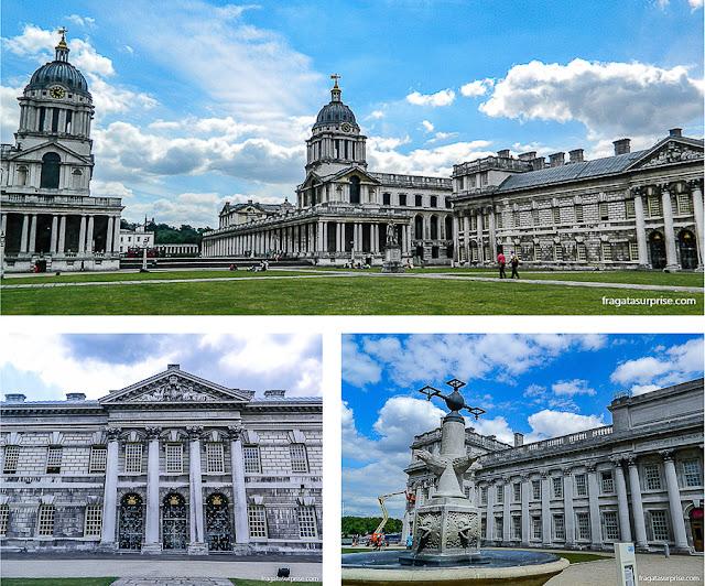 Royal Naval College (Escola Real de Marinha), projeto de Christopher Wren em Greenwich, Londres