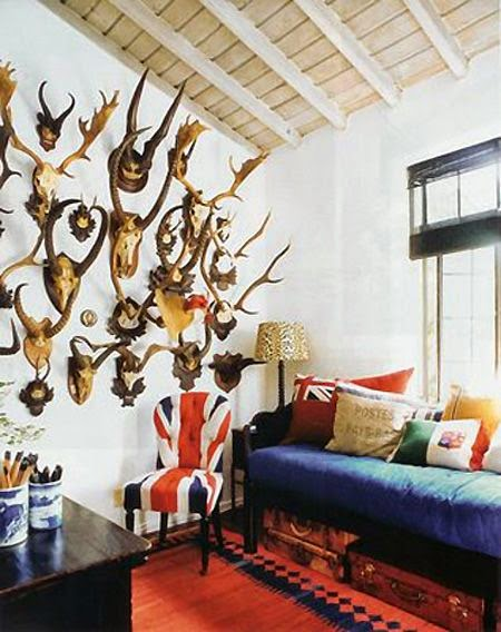 Zuniga Interiors Inspired Bohemian Chic Bohemian Luxe: INSPIRED DESIGN: Trend Watch: Decorating With Antlers And