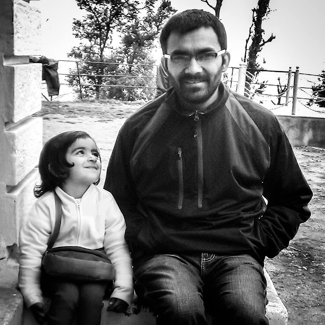 Above photograph shows me and my niece. This photograph is clicked by Vibha and it's candid shot, which means I didn't know she is going to click our photograph. Urvi's expressions are priceless and that expression makes it one of my favourites.