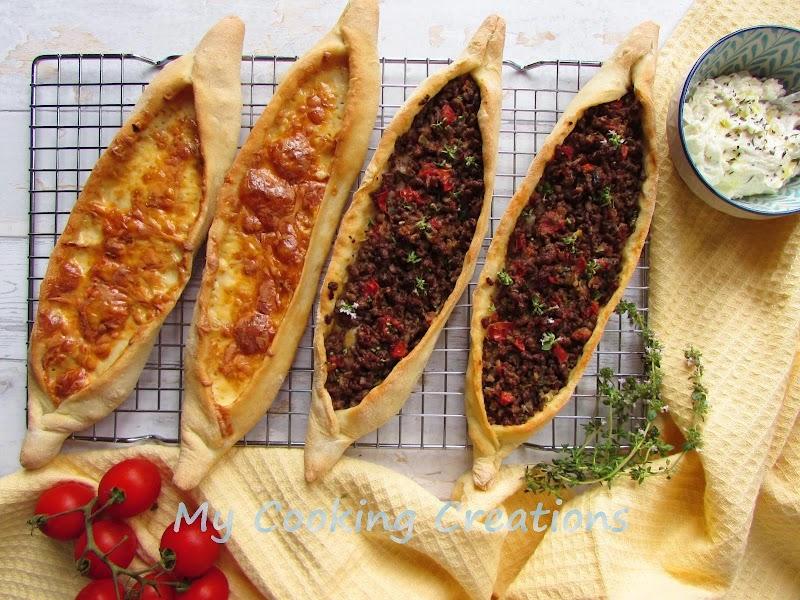 Турско пиде с кайма и кашкавал * Pide - pizza turca con carne e formaggi