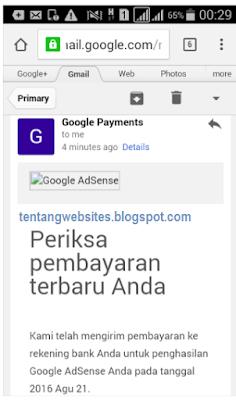 Pengalaman pertama gajian dari Google AdSense