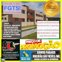 RESIDENCIAL EUROPA NA REGIÃO DO JUSTINÓPOLIS - RIBEIRÃO DAS NEVES/MG