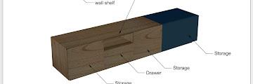 TV Cabinet wooden Storage Shape