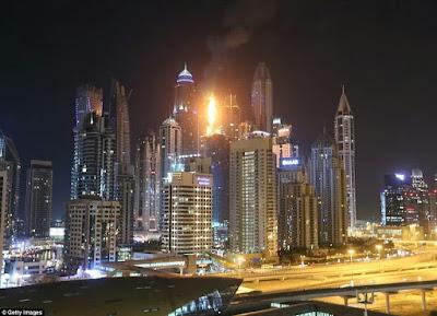 86-Storey Skyscraper In Dubai Engulfed By Massive Fire (Photos)