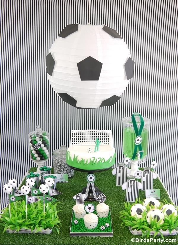 soccer football birthday party desserts