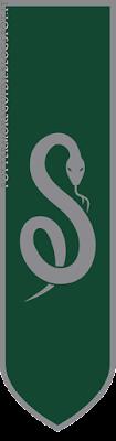 Lo stendardo di Serpeverde, realizzato per lo spettacolo teatrale