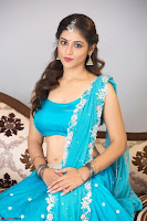 Marathi Actress Priyanka Jawalkar Sizzles In stunning Blue Half Saree ~ Exclusive 002.jpg