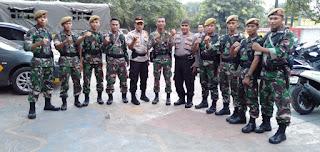 Kapolsek Cengkareng Ucapkan Terimakasih Kepada BKO TNI-AD Yon Arhanud 14 Cirebon Jawa Barat