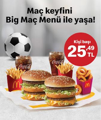 mcdonald's menü fiyat kampanyalar ve sipariş