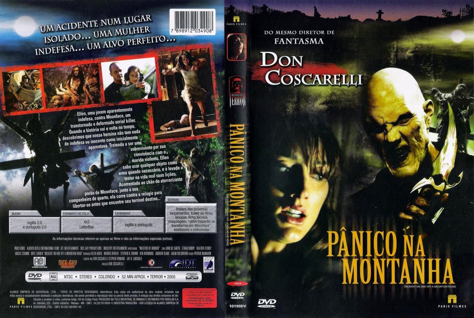 Filme: Pânico Na Montanha DVD Capa