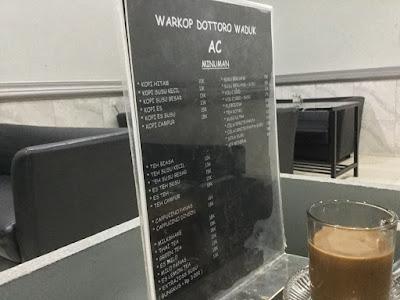 Menu Warkop Waduk, Borong