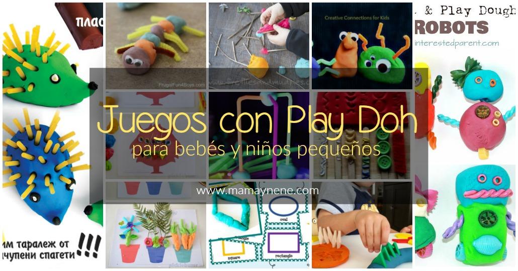 Juegos con Playdoh para bebés y niños
